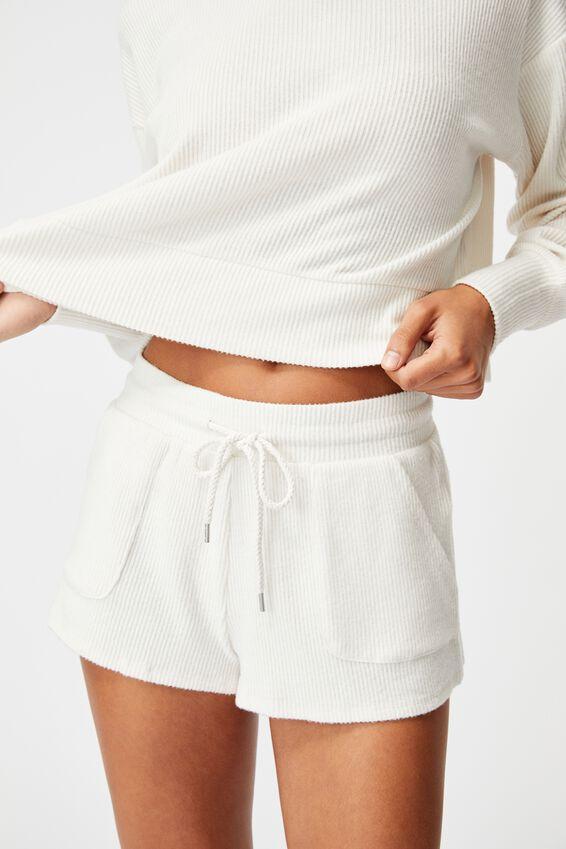 Super Soft Pocket Short, OATMEAL MARLE RIB