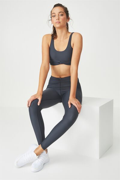 Knot Front Studio Tight, SHIMMER CHARCOAL