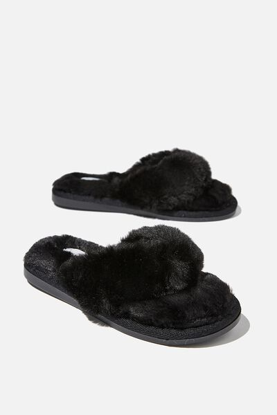 Body Thong Slipper, BLACK