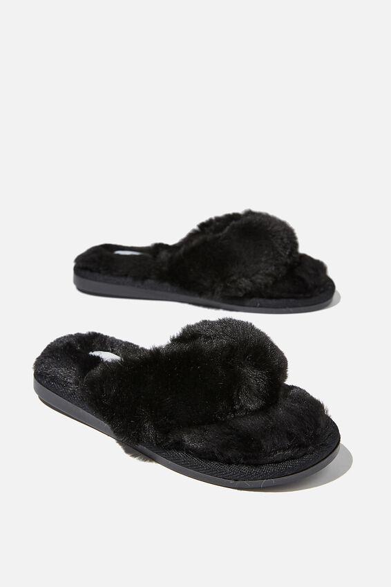 Body Thong Slipper, BLACK