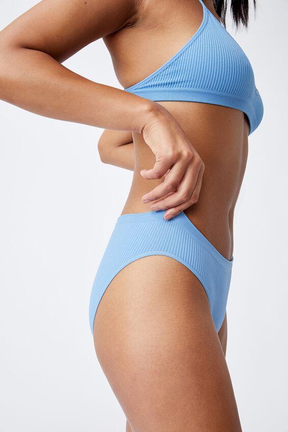 Seamfree Bikini Brief, GLACIER BLUE