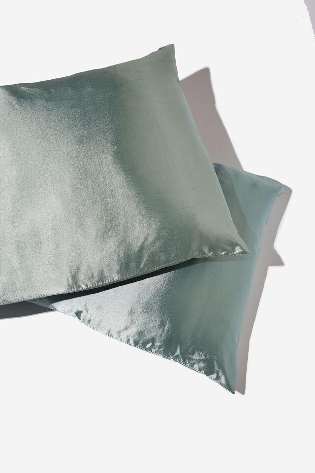 Satin Pillow Slip Duo, GARDEN SAGE