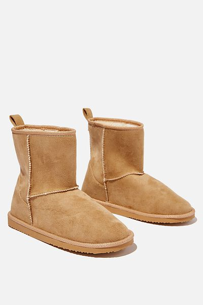 Hallie Short Home Boot, CAMEL