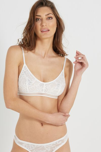 Harper Lace Crop, CREAM