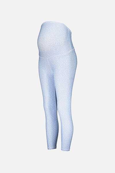 Maternity Ultimate Studio 7/8 Tight, SPECKLE SPOT/ANIMAL BLUE