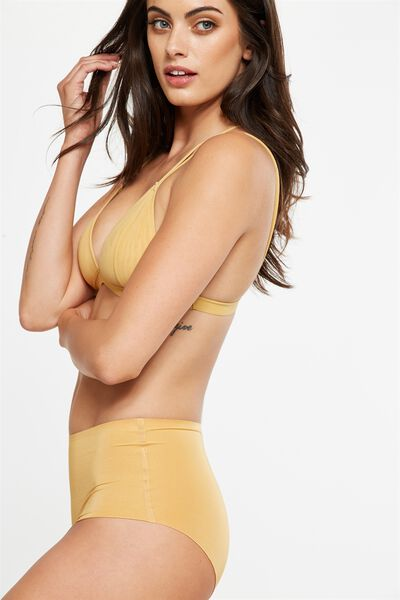 Essential High Waist Seamless Boyleg, HONEY MARLE