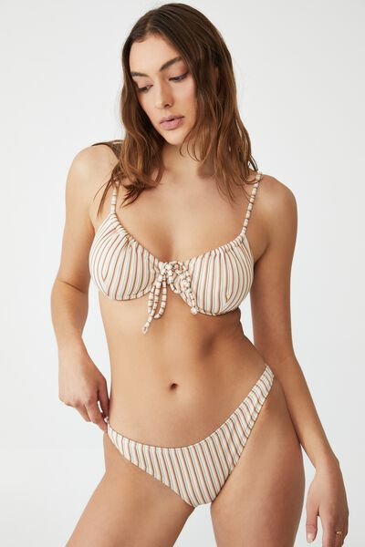 Full Bikini Bottom, MINT CHIP MULTI LUREX STRIPE