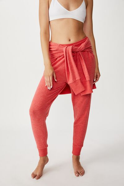 Supersoft Slim Fit Pant, CHERRY RED MARLE