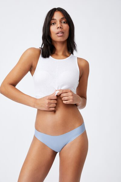 Party Pants Seamless Bikini Brief, BLUE FOG