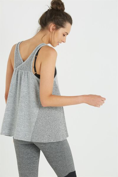 Maternity Super Soft Tank Top, GREY MARLE