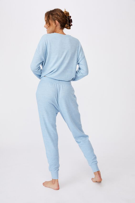 Supersoft Slim Fit Pant, GLACIER BLUE MARLE