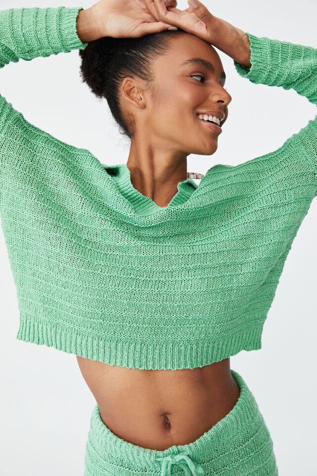 Summer Lounge Beach Knit, GREEN APPLE