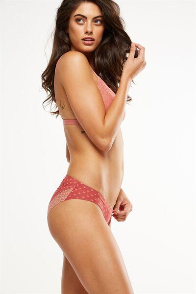 Party Pants Seamless Bikini Brief, RUSTY ROSE PRETTY SPOT