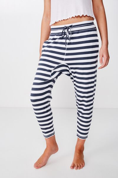 Sleep Recovery Drop Crotch Pant, THICK STRIPE/ IRON