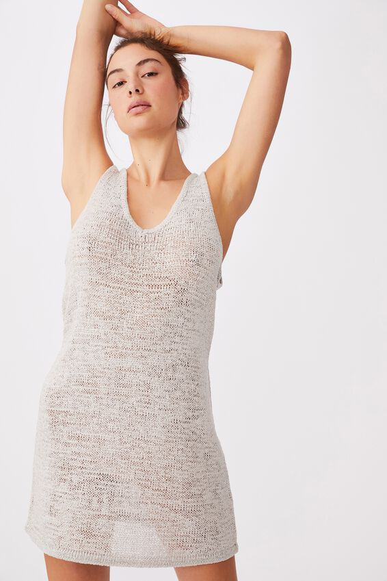 Summer Lounge Slip Dress, GREY SILVER