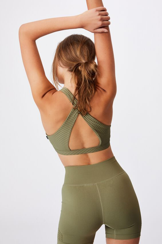 Workout Cut Out Crop, OREGANO TEXTURE
