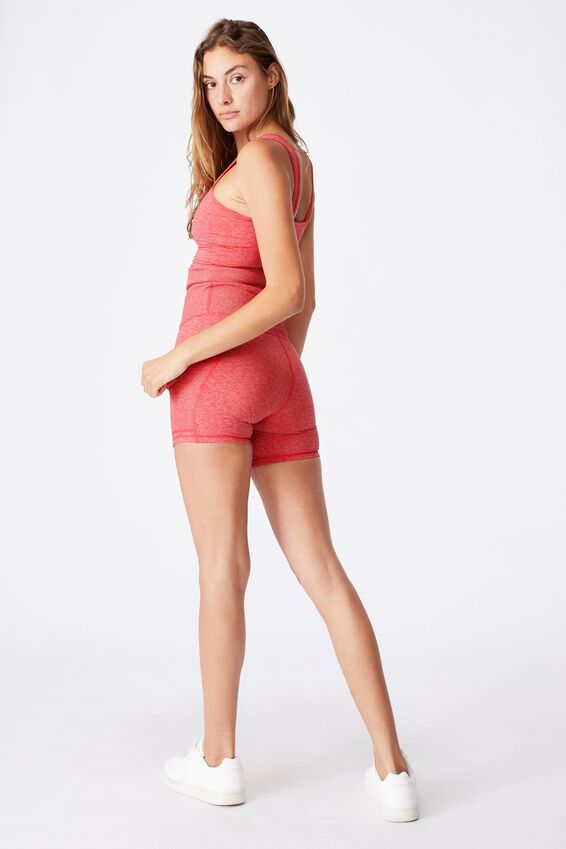Lifestyle So Soft Highwaisted Shortie Short, CANDY RED MARLE