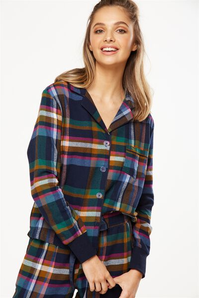 Long Sleeve Flannel Shirt, FORREST CHECK
