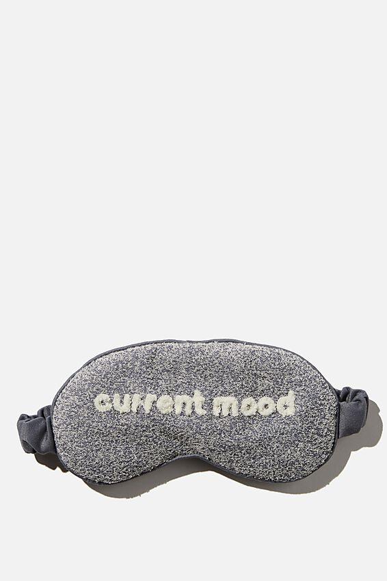 Sleep Eyemask, CHARCOAL/CURRENT MOOD