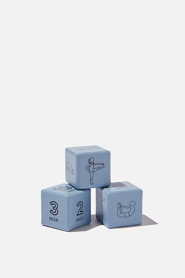 3Pk Yoga Dice, BABY BLUE