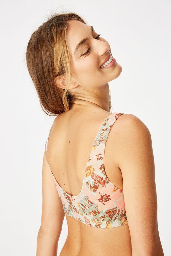 Cut Out Crop Bikini Top, VINTAGE HAWAIIAN