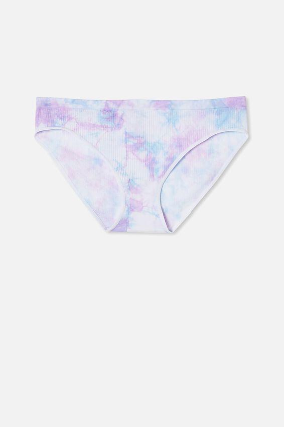 Seamfree Rib Bikini Brief, TUTTI FRUTTI TIE DYE