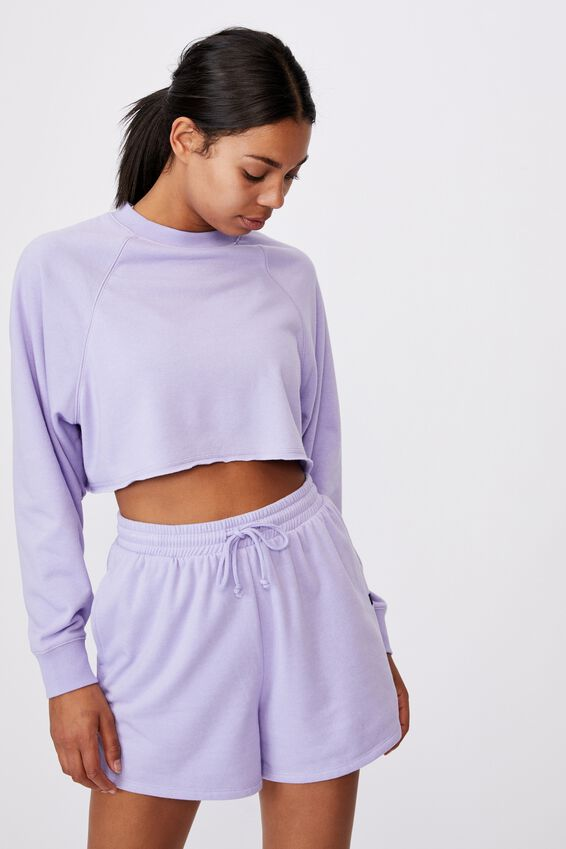 Lifestyle On Ya Bike Fleece Short, CHALKY LAVENDER MARLE