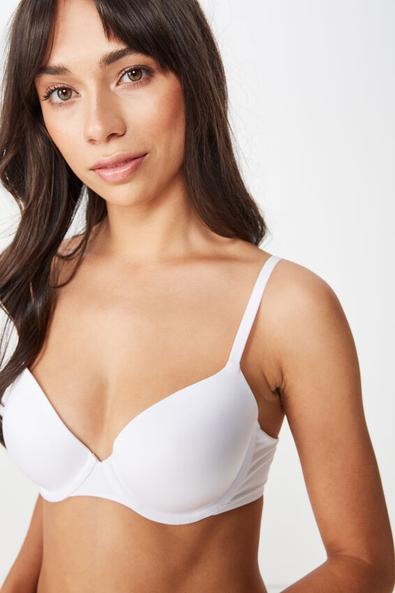 Ultimate Comfort T-Shirt Bra, WHITE