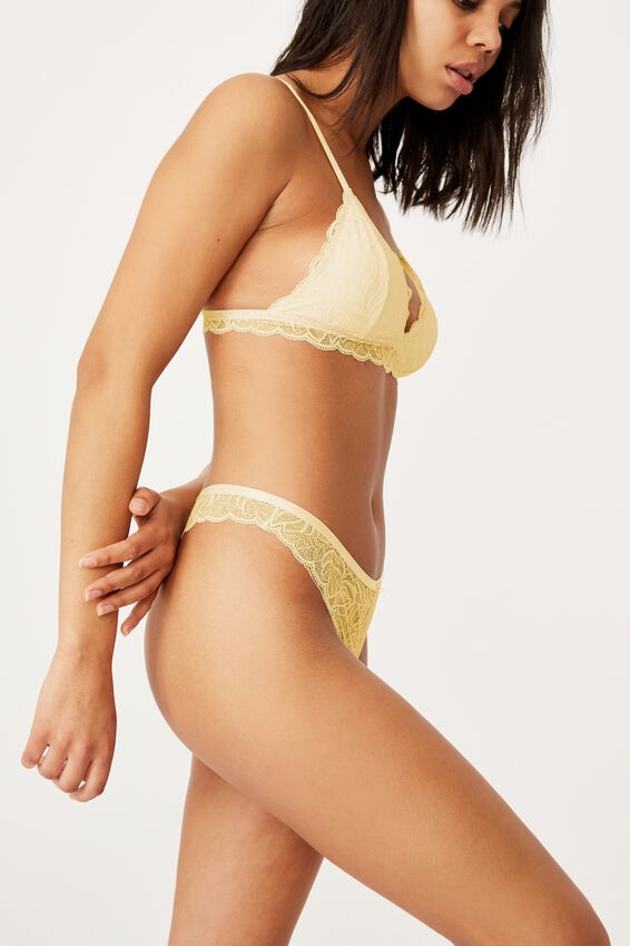 Summer Lace G String Breif, ICY CUSTARD