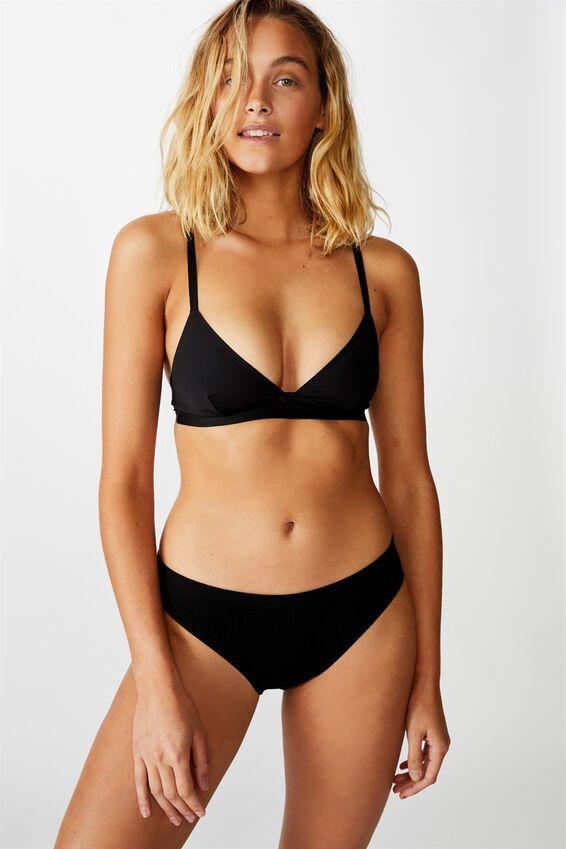 Seamfree Bikini Brief, BLACK