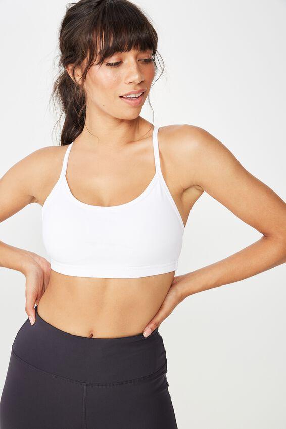 Workout Yoga Crop Bra, WHITE