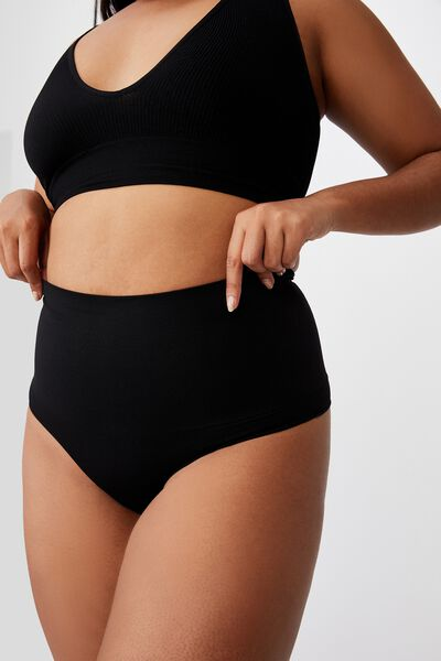 Take Control High Waist G String, BLACK