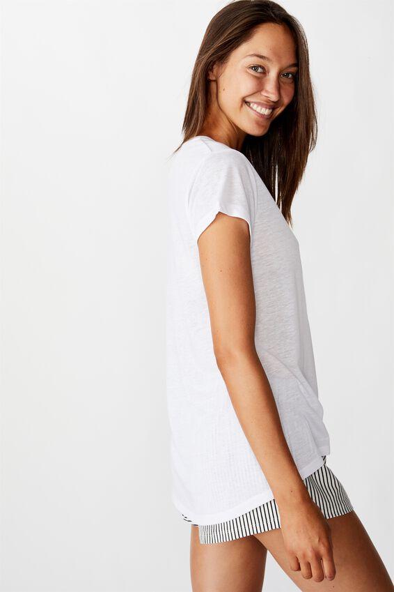 Dreamy Sleep T-Shirt, TOGETHER/WHITE