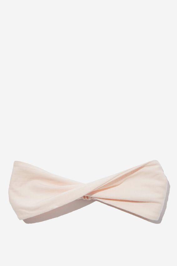 Organic Cotton Twist Headband, MARSHMALLOW PINK