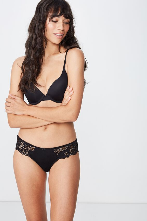 Maddie Brasiliano Brief, BLACK