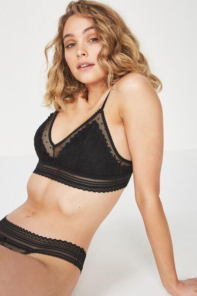 Stephanie Bralette, BLACK