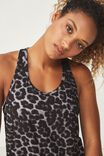 Training Tank Top, GREY ABSTRACT LEOPARD