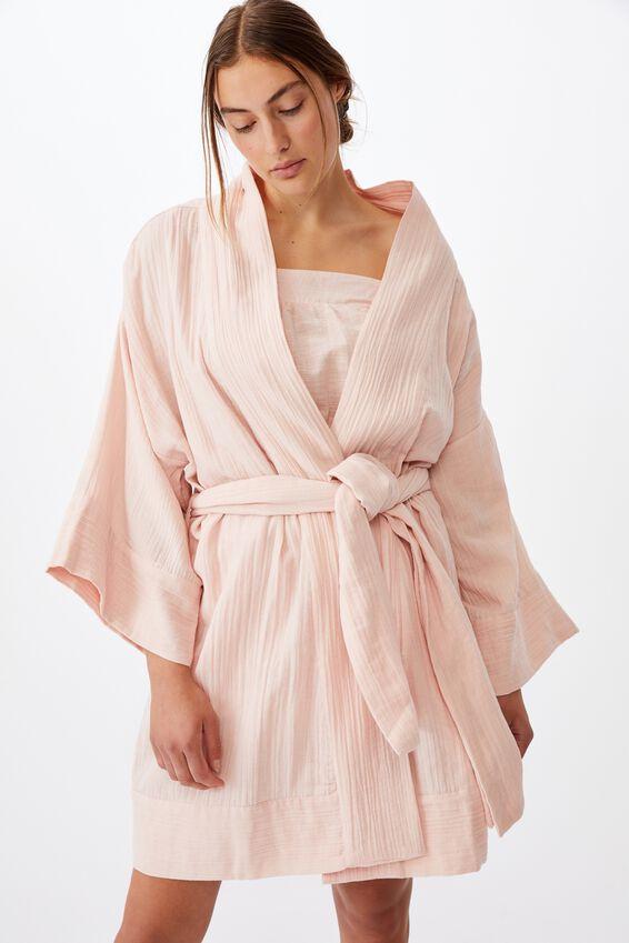 I-Do Kimono Gown, DUSTY BLUSH