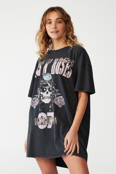 90S T-Shirt Nightie, LCN BR GUNS N' ROSES/SKULL