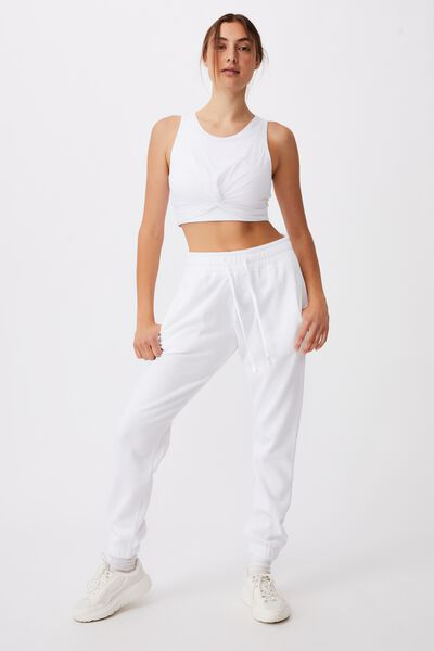 Lifestyle Gym Track Pant, WHITE