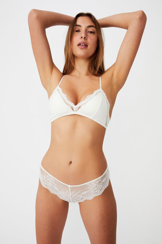 Zoe Lace Bralette, CREAM