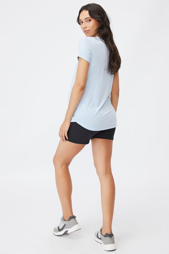 Maternity Gym T Shirt, BABY BLUE