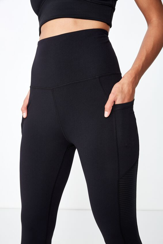 Stripe Mesh 7/8 Tight, BLACK