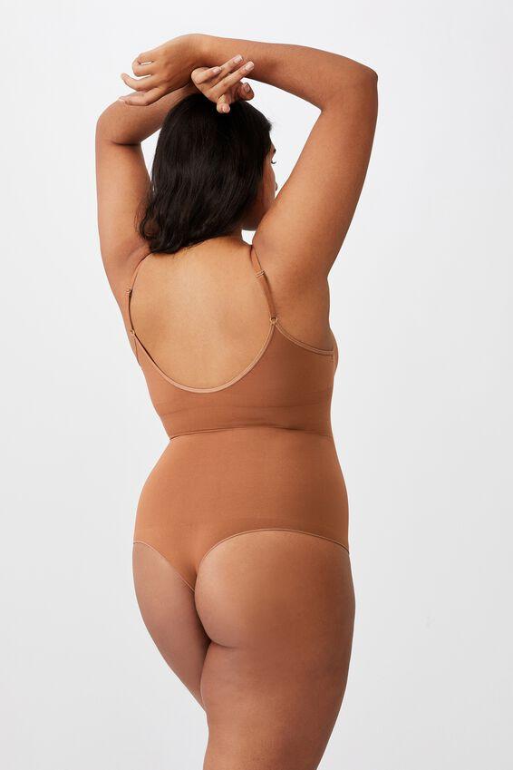 Go Figure Smooth Bodysuit, CAPPUCINO