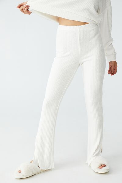 Petite Super Soft Textured Pant, COCONUT MILK