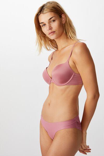 Party Pants Seamless Bikini Brief, WASHED ROSE