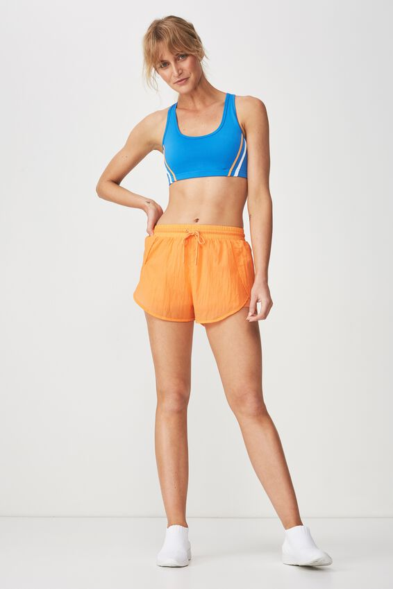 Crinkle Jogging Short, HEAT WAVE ORANGE