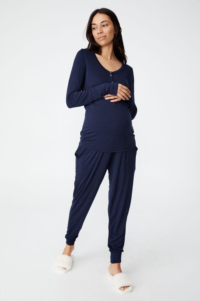 Sleep Recovery Maternity Pant, MIDNIGHT SKY