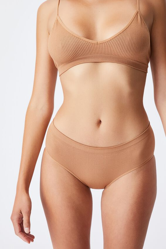 Seamfree Boyleg Brief, CASHEW