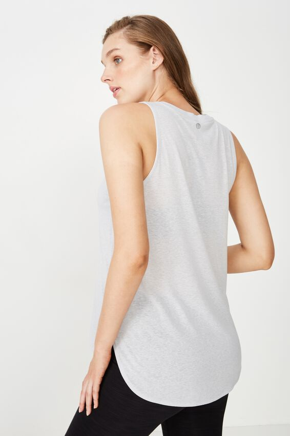 Maternity Active Curve Hem Tank Top, GREY MARLE